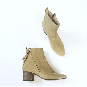 Banana Republic Lydia Suede Bootie Ankle Block
